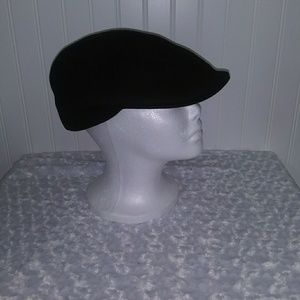 Men's Scala black wool felt flat cap